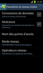 Samsung Galaxy S II - Réseau - Sélection manuelle du réseau - Étape 6