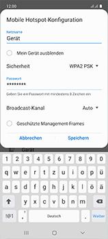 Samsung Galaxy A51 - WiFi - So aktivieren Sie einen WLAN-Hotspot - Schritt 9