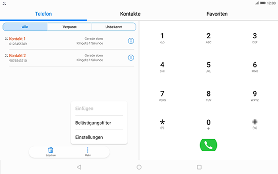 Huawei MediaPad T3 (10.0) LTE - Anrufe - Anrufe blockieren - 4 / 12