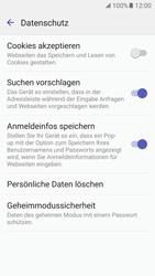Samsung Galaxy S7 - Datenschutz und Sicherheit - Datenschutzeinstellungen des Browsers ändern - 10 / 18