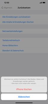 Apple iPhone XS Max - iOS 13 - Gerät - Zurücksetzen auf die Werkseinstellungen - Schritt 7