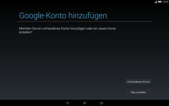 Sony Xperia Tablet Z2 LTE - Apps - Einrichten des App Stores - Schritt 4
