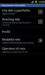 Samsung Galaxy S Advance - Internet e roaming dati - Configurazione manuale - Fase 6