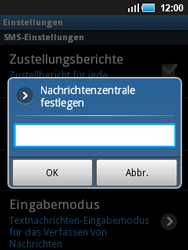 Samsung Galaxy Mini - SMS - Manuelle Konfiguration - 1 / 1