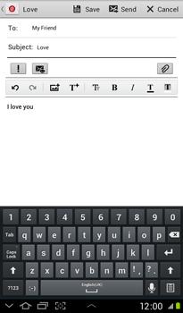 Samsung P3100 Galaxy Tab 2 7-0 - E-mail - Sending emails - Step 10