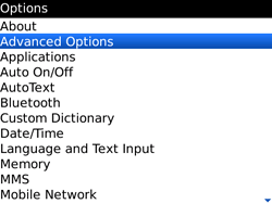BlackBerry 9700 Bold - Settings - Configuration message received - Step 4