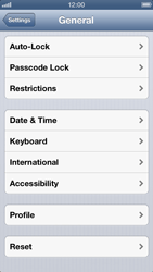 Apple iPhone 5 - Mobile phone - resetting to factory settings - Step 5