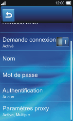 Sony TXT Pro - MMS - Configuration manuelle - Étape 16