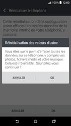 HTC Desire 530 - Aller plus loin - Restaurer les paramètres d'usines - Étape 7