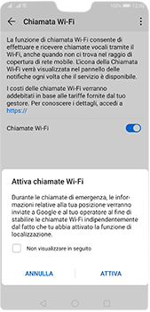 Huawei P20 Pro - Android Pie - WiFi - Attivare WiFi Calling - Fase 8