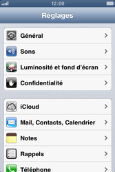 Apple iPhone 3GS - Internet et roaming de données - Configuration manuelle - Étape 4