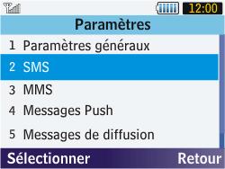 Samsung S3570 Chat 357 - SMS - configuration manuelle - Étape 5