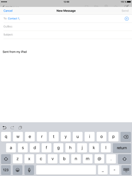 Apple iPad mini 4 - Email - Sending an email message - Step 6