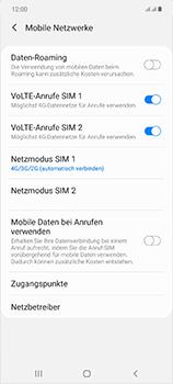 Samsung Galaxy Note 20 5G - Netzwerk - So aktivieren Sie eine 5G-Verbindung - Schritt 6