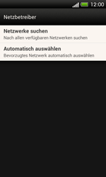 HTC One SV - Netzwerk - Manuelle Netzwerkwahl - Schritt 6