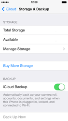 Apple iPhone 5 iOS 7 - Applications - configuring the Apple iCloud Service - Step 12
