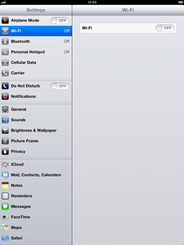 Apple iPad mini - Applications - configuring the Apple iCloud Service - Step 3