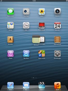 Apple iPad Retina iOS 7 - Startanleitung - Personalisieren der Startseite - Schritt 3