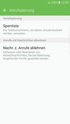 Samsung Galaxy S6 Edge - Anrufe - Anrufe blockieren - 7 / 12