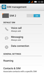 Alcatel One Touch Pop C3 - Internet and data roaming - Disabling data roaming - Step 5