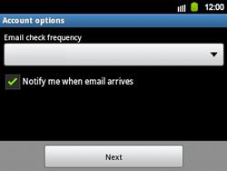 Samsung B5510 Galaxy TXT - E-mail - Manual configuration - Step 12