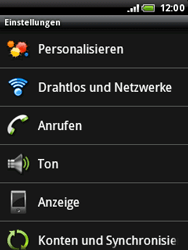 HTC Wildfire - WLAN - Manuelle Konfiguration - 4 / 10
