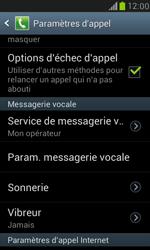 Samsung I8190 Galaxy S III Mini - Messagerie vocale - configuration manuelle - Étape 5