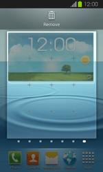 Samsung Galaxy Express - Getting started - Installing widgets and applications on your start screen - Step 6