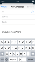 Apple iPhone 5 iOS 8 - E-mail - Envoi d