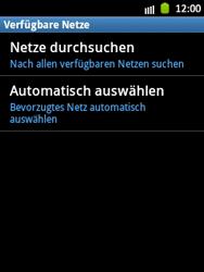 Samsung Galaxy Pocket - Netzwerk - Manuelle Netzwerkwahl - Schritt 7