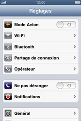 Apple iPhone 3GS - Réseau - Sélection manuelle du réseau - Étape 5