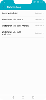 Huawei Honor Play - Anrufe - Rufumleitungen setzen und löschen - 6 / 9