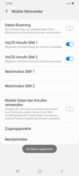 Samsung Galaxy S20 Plus 5G - Netzwerk - Manuelle Netzwerkwahl - Schritt 14