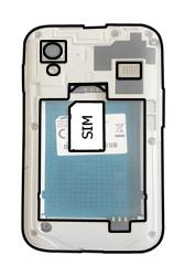 Samsung S5830i Galaxy Ace i - SIM-Karte - Einlegen - Schritt 3