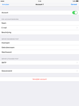 Apple iPad mini iOS 9 - E-mail - Handmatig instellen - Stap 23