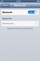 Apple iPhone 4 - iOS 6 - Bluetooth - connexion Bluetooth - Étape 7