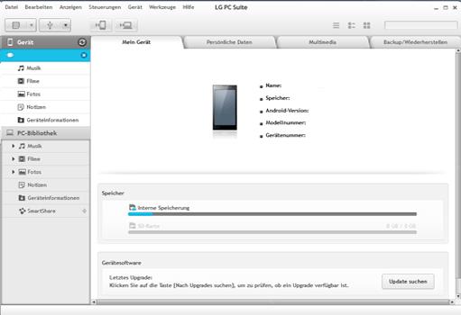 LG D955 G Flex - Software - Eine Sicherungskopie des Geräts erstellen - Schritt 2