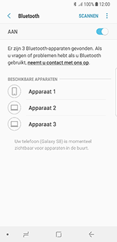 Samsung Galaxy S8 - Android Oreo (SM-G950F) - Bluetooth - Headset, carkit verbinding - Stap 7