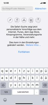 Apple iPhone X - iOS 13 - Internet und Datenroaming - Verwenden des Internets - Schritt 4