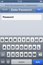 Apple iPhone 4S - WiFi - WiFi configuration - Step 6
