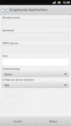 Sony Xperia S - E-Mail - Manuelle Konfiguration - Schritt 10