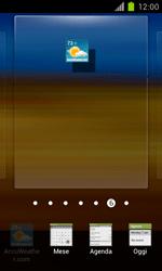 Samsung Galaxy S II - Operazioni iniziali - Installazione di widget e applicazioni nella schermata iniziale - Fase 5