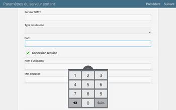 Samsung T805 Galaxy Tab S - E-mail - configuration manuelle - Étape 13