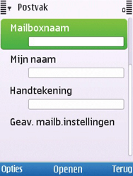 Nokia 6700 slide - E-mail - Handmatig instellen - Stap 18