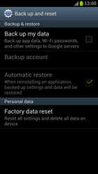 Samsung I9300 Galaxy S III - Device - Factory reset - Step 6