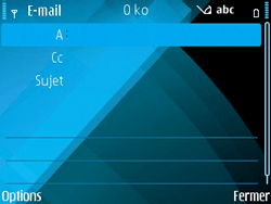 Nokia E71 - E-mail - envoyer un e-mail - Étape 6