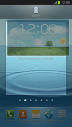 Samsung Galaxy S III LTE - Getting started - Installing widgets and applications on your start screen - Step 6
