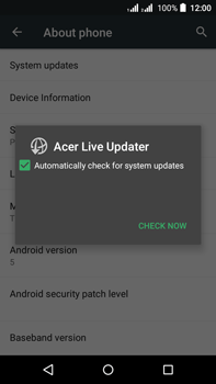 Acer Liquid Z630 - Device - Software update - Step 7