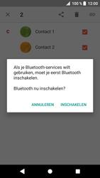 Sony F8331 Xperia XZ - Android Oreo - Contactgegevens overzetten - delen via Bluetooth - Stap 8