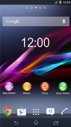 Sony C6903 Xperia Z1 - E-mail - e-mail instellen: IMAP (aanbevolen) - Stap 1